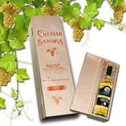 Weißweinset, Weingeschenk mit Holzkiste