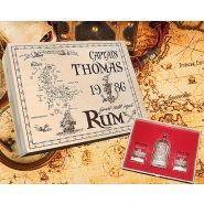 Holzbox Geschenkset Rum-Set mit Gravur Flasche und 2 Gläser