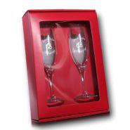 Geschenkset Champagnergläser mit Gravur Hochzeit im Geschenkkarton