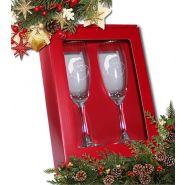 Geschenkset Claret - 2 Sektgläser mit Gravur Weihnachten im Geschenkkarton