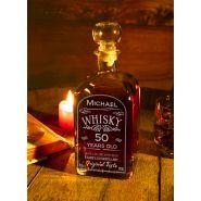 Whiskyflasche gravieren personalisieren Name Alter
