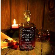 Whiskyflasche, Karaffe rund mit Gravur Geburtstag
