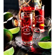 Schnapsglas mit Henkel Gravur Hochzeit