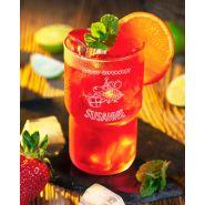 "Longdrinkglas Kinderglas Saftglas Wasserglas ""Log"" 32cl mit Gravur Geburtstag stapelbar"