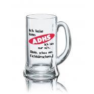Lustiges Bierglas Bierkrug Icon 0,5L - Dekor: Ich habe kein ADHS - Ich bin nur oft... Oohh, schau ein Eichhörnchen...!