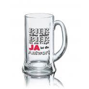 Lustiges Bierglas Bierkrug Icon 0,5L - Dekor: BIER oder nicht BIER ist die Frage - JA - ist die Antwort
