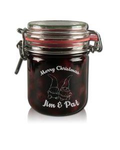 Marmeladenglas Vorratsglas 400ml mit Gravur Weihnachten