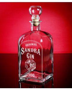 Ginflasche, Gin Dekanter 0,7L mit Gravur