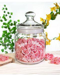 Big Candy 1,5L Bonbonglas Keksdose Bonboniere Gravur Hochzeit Liebesbotschaft