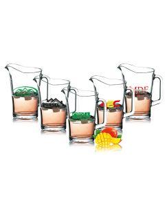 Bierpitcher Saftkrug Glaskrug 1,8L - 1-fbg. bedruckt