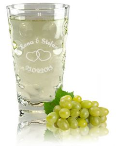 Dubbeglas 0,5L Hochzeit gravieren