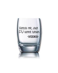 Lustiges Schnapsglas Salto 60 ml - Vertrau mir, auch Du kannst tanzen. -VODKA-