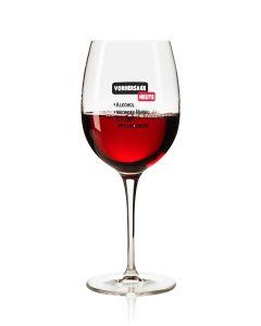 Lustiges Weinglas 350ml - Dekor: VORHERSAGE HEUTE + Alkohol + Niedriges Niveau + Schlechte Entscheidungen