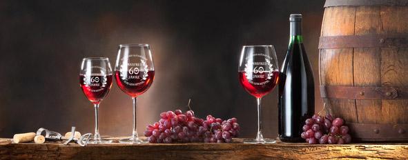 Weingläser mit Gravur